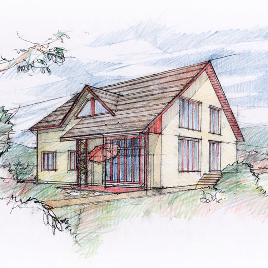 Das architektenhaus und der traum vom eigenen traumhaus for Skelettbauweise definition