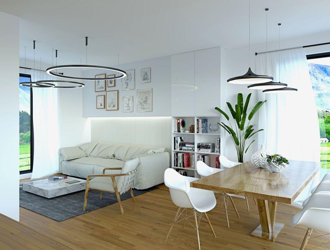 Traumhaus Suisse Family Wohnzimmer modern eingerichtet ...